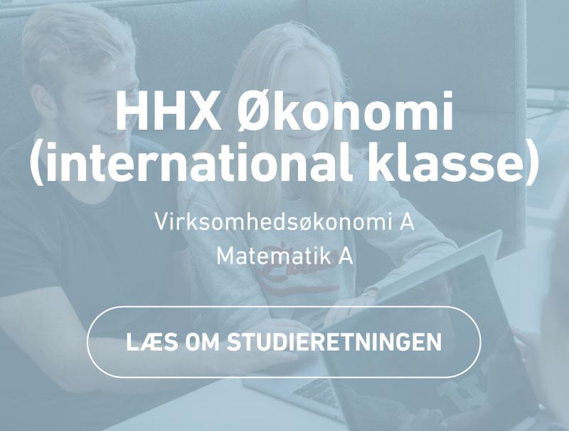HHX Økonomi - international klasse - studieretning