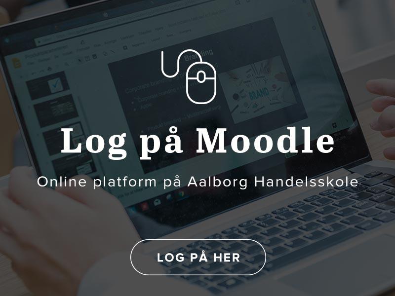 Log på Moodle - online platform