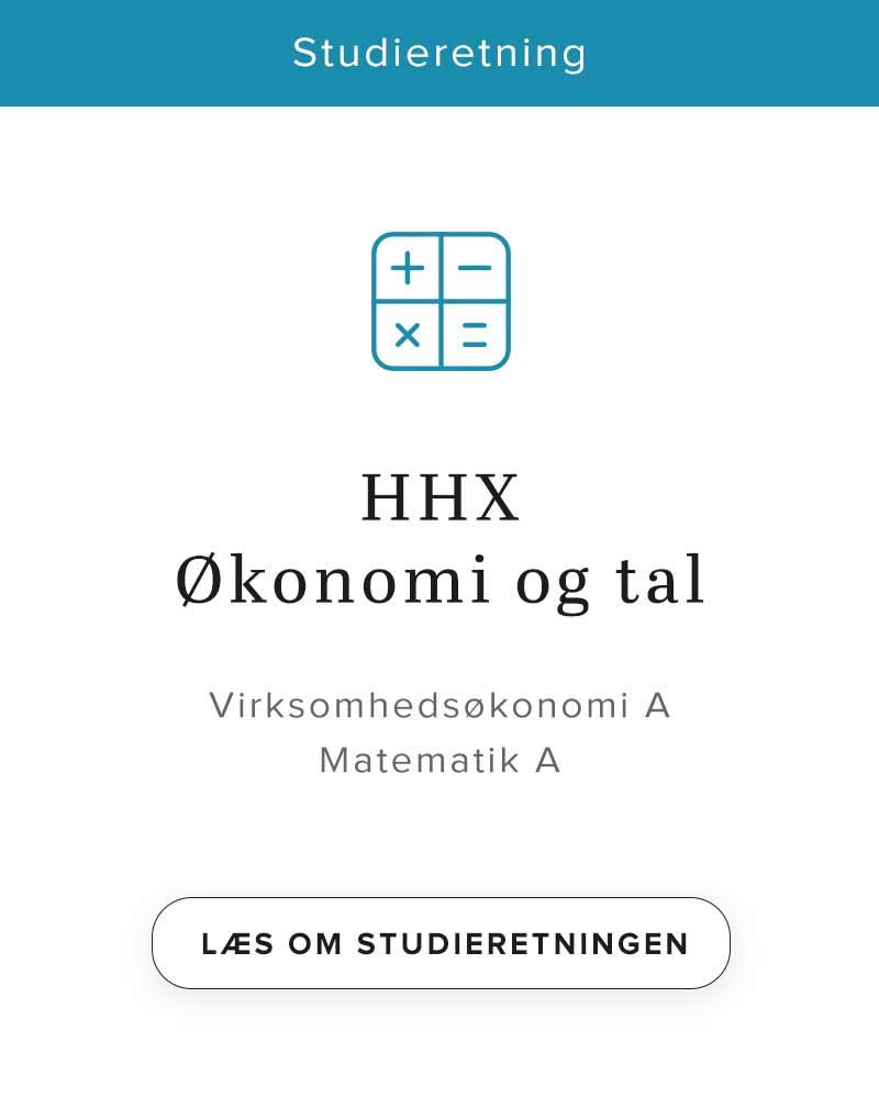 HHX Økonomi og tal - studieretning